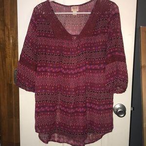 Colorful tunic, comfy, Large, EUC
